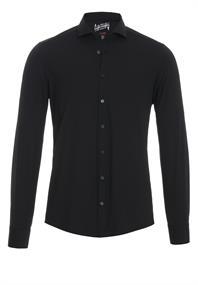 Pure jersey overhemd Slim Fit 3387-21150 in het Zwart