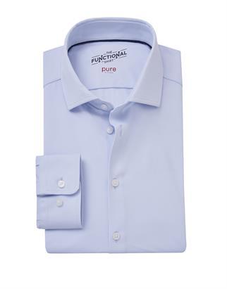 Pure jersey overhemd Slim Fit 4030-21750 in het Blauw