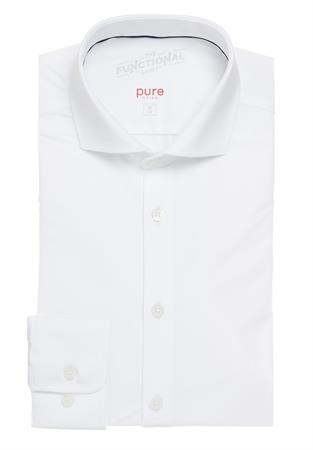Pure jersey overhemd Slim Fit 4030-21750 in het Wit