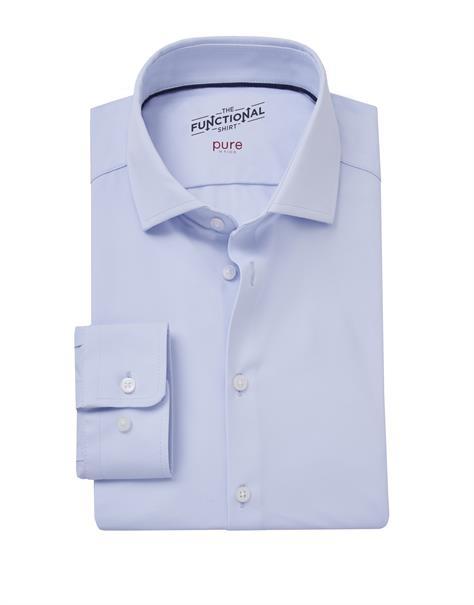 Pure overhemd Slim Fit 4030-21750x in het Licht Blauw