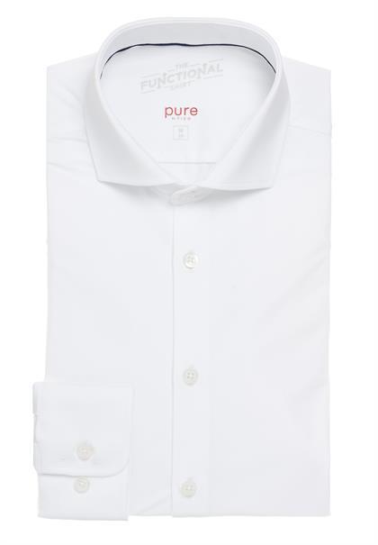 Pure overhemd Slim Fit 4030-21750x in het Wit