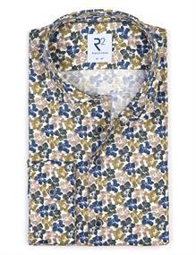 R2 business overhemd 112.WSP.087/074 in het Groen