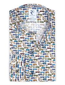 R2 business overhemd 112.WSP.091/073 in het Groen