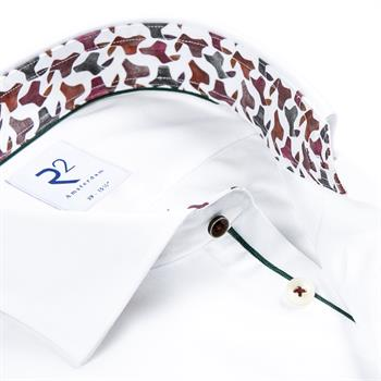 R2 business overhemd 114.WSP.093/004 in het Wit