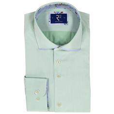R2 business overhemd Tailored Fit 100wsp17 in het Mint Groen