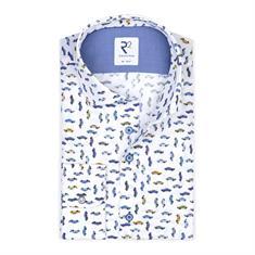 R2 business overhemd Tailored Fit 108.wsp.054/014 in het Blauw
