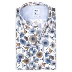 R2 business overhemd Tailored Fit 108.wsp.089/073 in het Beige