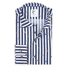 R2 business overhemd Tailored Fit 108.wsp.122/010 in het Wit/Blauw