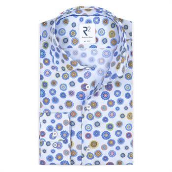 R2 business overhemd Tailored Fit 108.wsp.127/073 in het Licht Blauw
