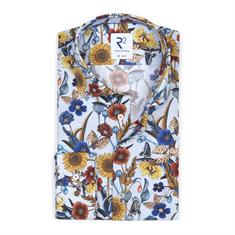 R2 business overhemd Tailored Fit 108.wsp.129/073 in het Licht Blauw
