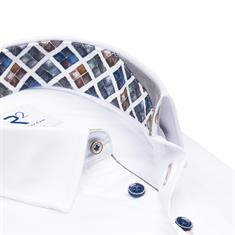 R2 casual overhemd Tailored Fit 110.HBD.035/004 in het Wit