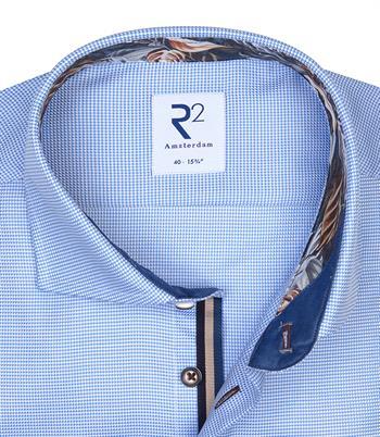 R2 casual overhemd Tailored Fit 110.WSP.003/018 in het Licht Blauw