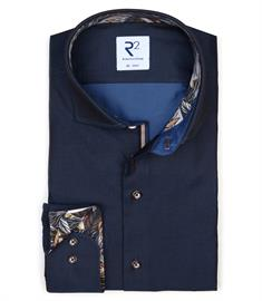 R2 casual overhemd Tailored Fit 110.WSP.004/010 in het Marine