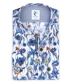 R2 casual overhemd Tailored Fit 110.WSP.024/014 in het Hemels Blauw