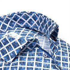 R2 casual overhemd Tailored Fit 110.WSP.052/014 in het Hemels Blauw