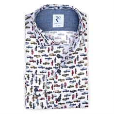 R2 casual overhemd Tailored Fit 110.WSP.056/073 in het Multicolor