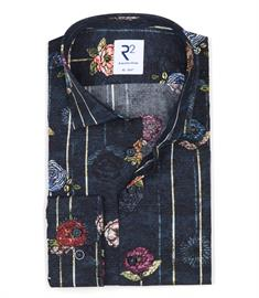 R2 casual overhemd Tailored Fit 110.WSP.078/073 in het Multicolor