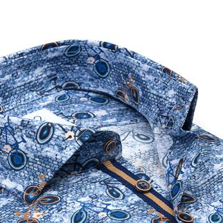R2 casual overhemd Tailored Fit 110.WSP.084/014 in het Hemels Blauw