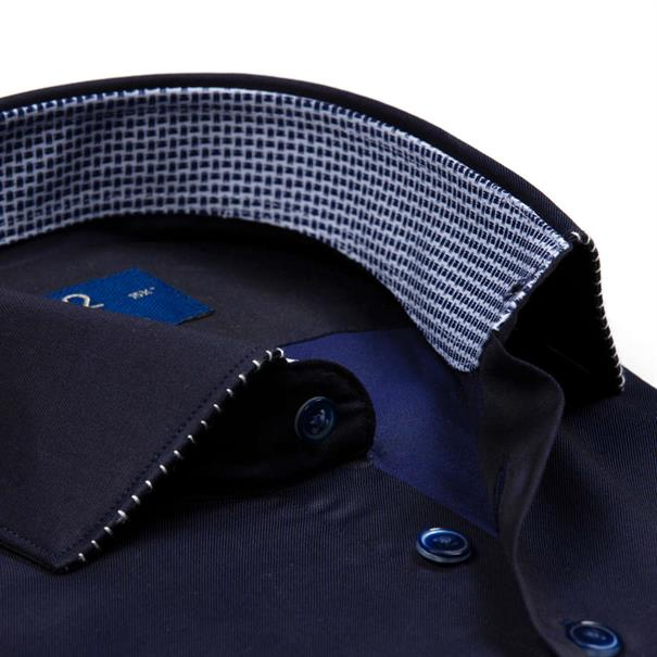 R2 overhemd 102wsp02 in het Donker Blauw