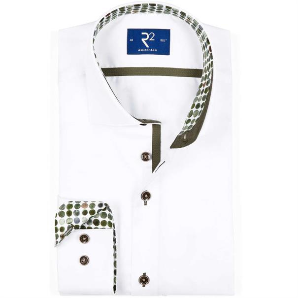 R2 overhemd 102wsp37 in het Wit