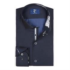 R2 overhemd 106wsp025/010 in het Donker Blauw
