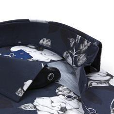 R2 overhemd 106wsp026/010 in het Donker Blauw