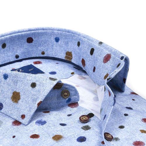 R2 overhemd 106wsp107/014 in het Licht Blauw