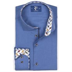 R2 overhemd 106wsp116/014 in het Blauw