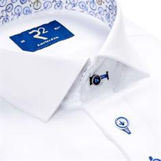 R2 overhemd Modern Fit 104wsp044/004 in het Wit/Blauw