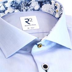 R2 overhemd Tailored Fit 108.wsp.027/018 in het Licht Blauw