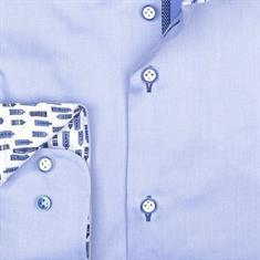 R2 overhemd Tailored Fit 108.wsp.077/018 in het Licht Blauw