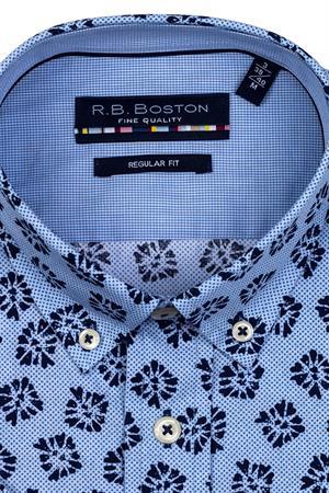 RB Boston overhemd Regular Fit 116670 in het Blauw