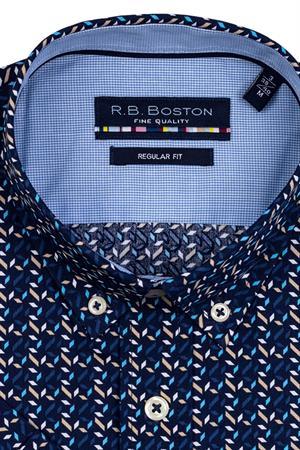 RB Boston overhemd Regular Fit 116670 in het Donker Blauw