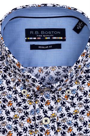 RB Boston overhemd Regular Fit 116670 in het Geel