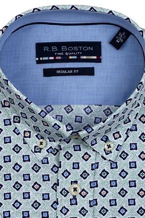 RB Boston overhemd Regular Fit 116670 in het Groen