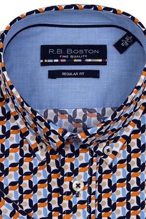 RB Boston overhemd Regular Fit 116670 in het Hemels Blauw