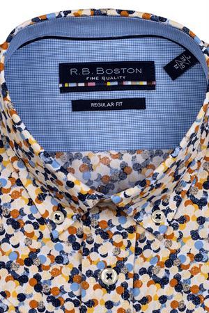 RB Boston overhemd Regular Fit 116670 in het Kaky