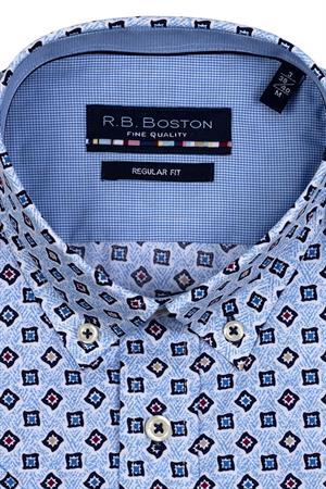RB Boston overhemd Regular Fit 116670 in het Licht Blauw