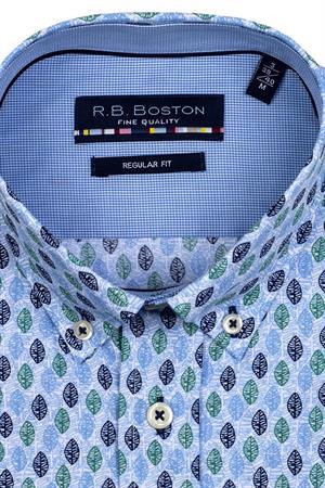 RB Boston overhemd Regular Fit 116670 in het Licht Groen