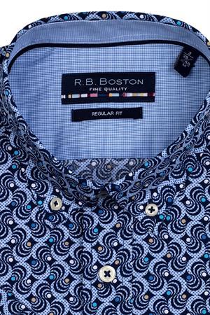 RB Boston overhemd Regular Fit 116670 in het Marine