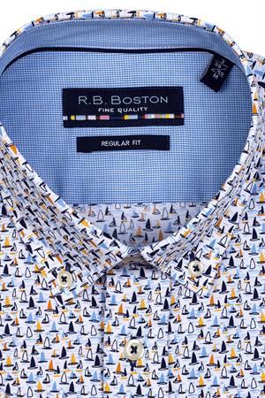 RB Boston overhemd Regular Fit 116670 in het Oranje