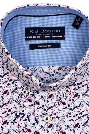 RB Boston overhemd Regular Fit 116670 in het Wit/Rood