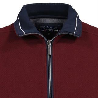 RB Boston trui Regular Fit V922226 in het Donker Rood