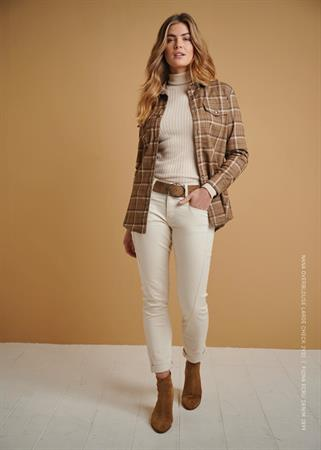 Red Button blouse 2932 nana in het Camel