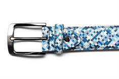 Rehab riem belt-pixelmania in het Wit/Blauw
