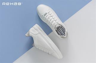 Rehab sneakers tiago-perfo in het Wit/Grijs