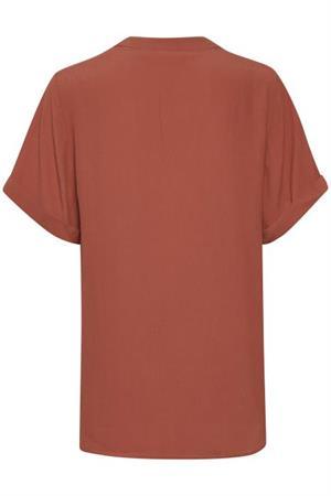Saint Tropez blouse 30510258 in het Brique