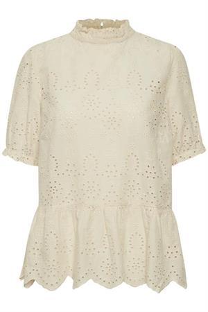 Saint Tropez blouse 30510270 in het Beige