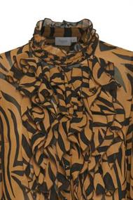 Saint Tropez blouse 30510392 in het Camel