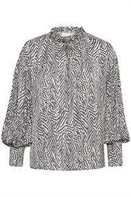 Saint Tropez blouse 30511099 in het Wit/Blauw